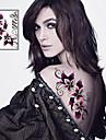 1 Tatouages Autocollants Séries de fleur Non Toxique Tribal Bas du Dos ImperméableHomme Femme Adulte Adolescent Tatouage Temporaire