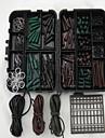 carpes couvert chargé de sécurité carpe crochets clips de plomb forage tubes perles émerillons manches anti-enchevêtrement extension de