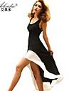 scăzut yuntuo®sexy u adus fusta margine alb coadă de rândunică împletit și rochie eleganta