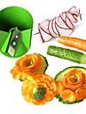 ziqiao kök i rostfritt stål grönsaker / frukt dekorativa carving / rullande fräs