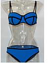 Femei Bikini Femei Bustieră Monocolor/Franjuri/Volane/Solid Sutiene cu Întăritură/Sutiene Fără Burete Nailon/Spandex