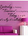 igår är historia heminredning väggdekaler zooyoo8138 dekorativa flyttbar vinyl väggdekorationer