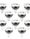 4W GU5.3(MR16) LED-spotlights MR16 4 Högeffekts-LED 360-400 lm Varmvit / Kallvit / Naturlig vit Dimbar DC 12 / AC 12 V 10 st