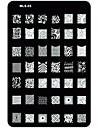 nagel konst stämpling / stamper bild mall platta spik schabloner / formar för akryl spik tips MLS serie nr.3