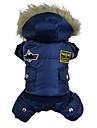 Chien Manteaux Pulls à capuche Combinaison-pantalon Rouge Bleu Marron Vêtements pour Chien Hiver Police/Militaire Mode Garder au chaud