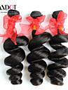 """3st lot 12-28 """"brasilianska obearbetade lös våg lockiga jungfru hårwefts naturligt svart rå remy människohår väva buntar"""