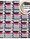 18 olika mönster gör mönster nail art verktyg ger 2st nail art tejp