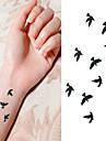 Tatueringsklistermärken - Non Toxic/Ländrygg/Waterproof - Djurserier - till Spädbarn/Barn/Dam/Herr/Vuxen/Tonåring - Svart/Rosa/Multifärgad