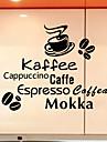 väggdekorationer väggdekaler, kaffe kökklistermärke pvc väggdekorationer