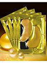 24k rent guld folie guld masken till blåtira påse med fina linjer på 1