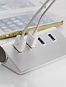ruban de haute qualité Hub USB 3.0 4 ports hub adaptateur séparateur en aluminium pour ordinateur portable pc
