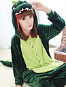 Kigurumi Pyjamas Dinosaurie Leotard/Onesie Halloween Animal Sovplagg Mörkgrön Lappverk Polar Fleece Kigurumi UnisexHalloween / Jul /