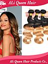 ali drottning hår 6a brasiliansk ombre hårförlängningar vågigt 3 buntar två ton ombre hår väver fri frakt