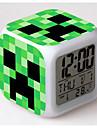 7 färgförändring digital väckarklocka ledde termometer nigh färgglada glödande leksaker