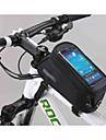 Sac de Vélo 1.8LSac de cadre de vélo Sac de téléphone portable Multifonctionnel Ecran tactile Sac de Cyclisme PVC Polyester 600D Tactel