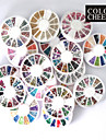 20 st nail hjul konst dekoration