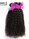 """3 pcs beaucoup 12 """"-30"""" non transformés péruviens crépus bouclés trames de cheveux naturels vierges noires 1b # remy premières faisceaux"""