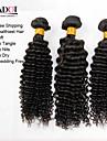 """8 """"-30"""" naturligt svart 6a mongoliska lockigt hår väva 4st / lot 100% obearbetade mongoliska jungfru kinky lockigt hår"""