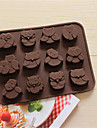 bakeware silikon uggla formade bakning formar för choklad