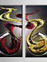 HANDMÅLAD FritidModerna Två paneler Kanvas Hang målad oljemålning For Hem-dekoration