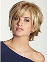 pelucheux beautyful capless de qualité à court ondulé mono top cheveux humains perruques douze couleurs à choisir