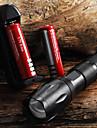 E17 CREE XM-L T6 2000 LM LED-ficklampa med zoom och hög kapacitet (1x18650), med två batterier och laddare