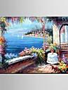 Peint à la main A fleurs/Botanique / Paysages AbstraitsPastoral / Style européen Un Panneau Toile Peinture à l'huile Hang-peint For