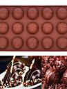 15 trous gâteau mousse moule en silicone de chocolat moule de cuisson (chocolat rond) (couleur aléatoire)