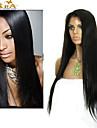 """8 """"-26"""" brasilianska jungfru hår rakt limfria fullt spets peruk med baby hår för svarta kvinnor"""