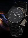 bandă de oțel cuarț calendaristic bărbați ceas de ceas rochie