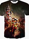 Kort ärm - T-Shirts ( Bomullsblandning )till MÄN Rund - Casual