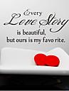 chaque histoire d'amour est beaux stickers muraux zooyoo8145 salon muraux en vinyle amovible stickers décoration de la maison