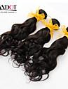 """3st lot 12-28 """"malaysiska obearbetade vatten wave wavy jungfru hårwefts naturligt svart rå remy människohår väva buntar"""