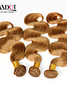 """4st 14-28 """"cinderella hårförlängningar honung blond brasilianska förkroppsligar vinkar jungfruligt remy människohår väv buntar 7a färg 27"""