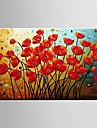 Peint à la main Paysage / Nature morte / A fleurs/BotaniqueModern Un Panneau Toile Peinture à l'huile Hang-peint For Décoration