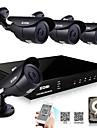 zosi® 800tvl mörkerseende hdmi 500GB HDD 8ch H.264 dvr kit 4x utomhus CCTV kamera säkerhetssystem