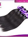 indiska rakt hår 4st obearbetade mänskliga hårförlängningar naturliga färgen # 1b