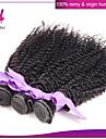 peruanska kinky lockigt jungfru hår 3st / lot obearbetat peruanska jungfru hår lockigt väva för African American kvinnor