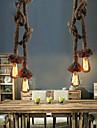 Max 40W Hängande lampor ,  Vintage / Rustik Rektangulär Särdrag for Ministil MetallLiving Room / Bedroom / Dining Room / Skaka pennan och