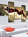 Peint à la main Abstrait Cinq Panneaux Toile Peinture à l'huile Hang-peint For Décoration d'intérieur