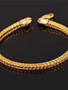 topgold män kub kätting 18k chunky guldpläterad armband för män kvinnor av hög kvalitet med 18k stämpel