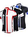 Arsuxeo Maillot de Cyclisme Homme Manches courtes Vélo Respirable Séchage rapide Design Anatomique Zip frontal Maillot Hauts/Tops100 %