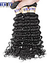 """4 st / lot 8 """"-30"""" 6a malaysiska jungfru hår vinkar djupt mänskliga hårwefts 100% obearbetat malaysiska remy hår väver"""