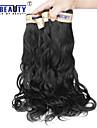 """4 st / lot 12 """"-22"""" 6a peruanska jungfru hår naturligt våg människohår väft 100% obearbetat peruanska remy hår väver"""