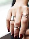 Seturi de bijuterii Inele Midi Inel La modă Personalizat Aliaj Circle Shape Argintiu Auriu Bijuterii Pentru Petrecere Zilnic Casual Sport