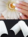 500 normes coréennes blanches professionnels moitié et faux conseils de nail art acrylique (50pcsx10 tailles mixte)