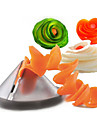 Gadgets de cuisine créative spirale végétale trancheuse / carotte coupe spiralizer végétale (couleur aléatoire)