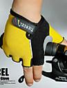 Élastiques en nylon résistant demi de gants de conception 3D pour le vélo bicyclette (couleurs assorties, la taille moyenne)