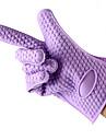 1st silikon ugnen vantar isolerade handskar bakning verktyg (slumpvis färg)