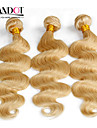 top 7a blekmedel blonda 613 jungfru hårförlängning brasilianska vingin hår förkroppsligar vinkar brasiliansk människohår väva buntar hår